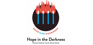 Hope in the Darkness flames, youth mental health, suicide
