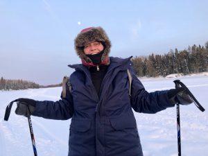 Leanne Fournier snowshoeing