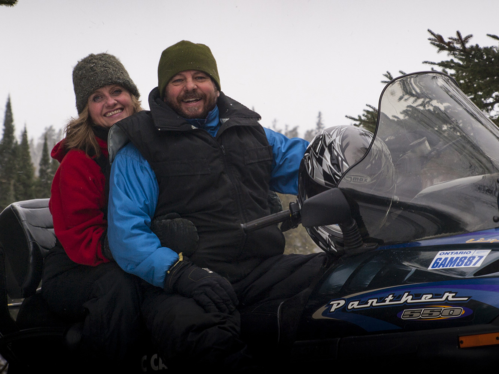 snowmobiling in Northwest Ontario