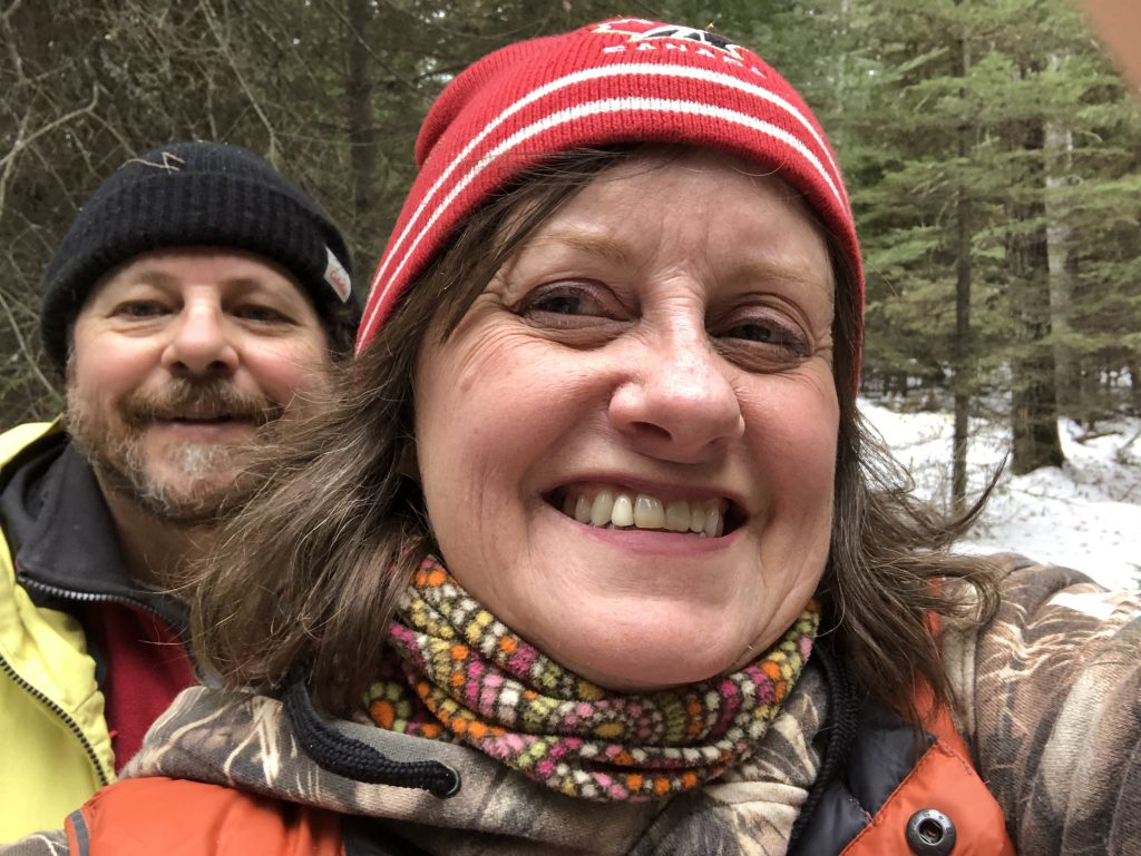 Leanne and Michael Fournier forest therapy selfie